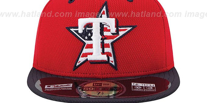 Rangers '2014 JULY 4TH STARS N STRIPES' Hat by New Era