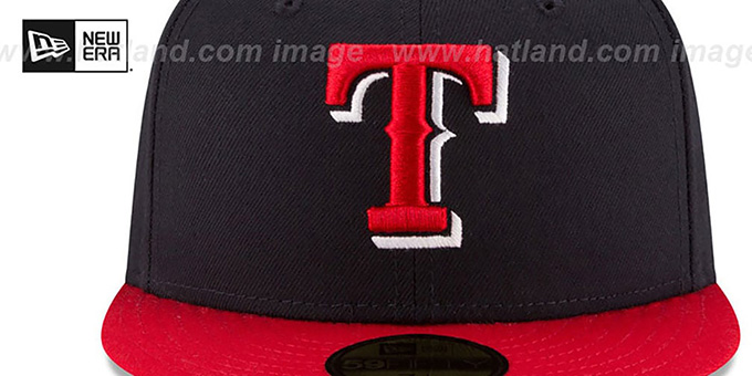 Rangers 'COUNTRY COLORS' Navy-Red Fitted Hat by New Era