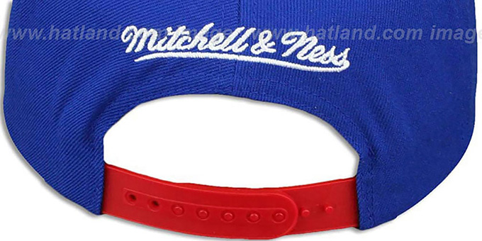 Rangers 'KNIT-WEAVE SNAPBACK' Royal-Multi Hat by Mitchell and Ness