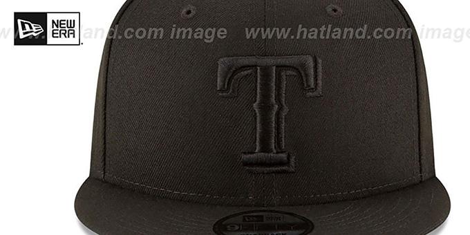 Rangers /'TEAM-BASIC SNAPBACK/' Grey-Black Hats by New Era