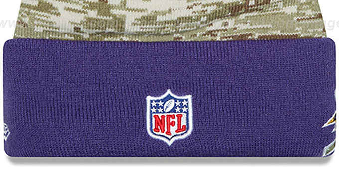 Ravens '2015 SALUTE-TO-SERVICE' Knit Beanie Hat by New Era