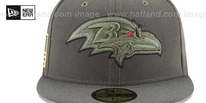 Ravens '2017 SALUTE-TO-SERVICE' Green Fitted Hat by New Era