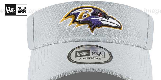Ravens '2018 NFL TRAINING VISOR' Grey by New Era