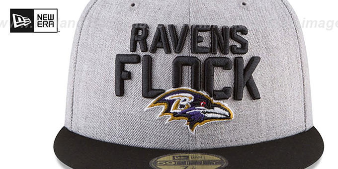 Ravens '2018 ONSTAGE' Grey-Black Fitted Hat by New Era