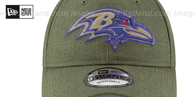 Ravens '2018 SALUTE-TO-SERVICE STRAPBACK' Olive Hat by New Era