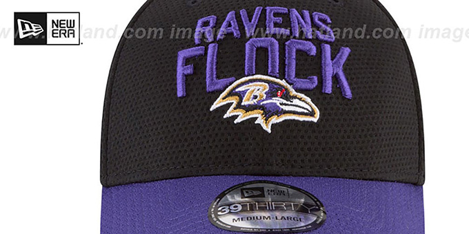 Ravens '2018 SPOTLIGHT FLEX' Black-Purple Hat by New Era