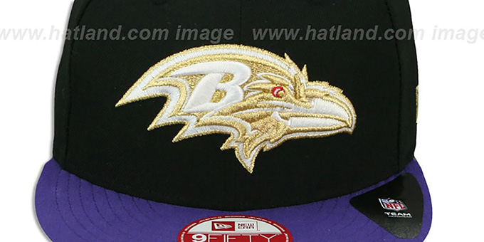 Ravens 'CHAMPS-HASH SNAPBACK' Black-Purple Hat by New Era
