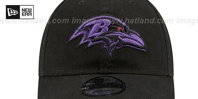 Ravens 'CORE-CLASSIC STRAPBACK' Black-Purple Hat by New Era