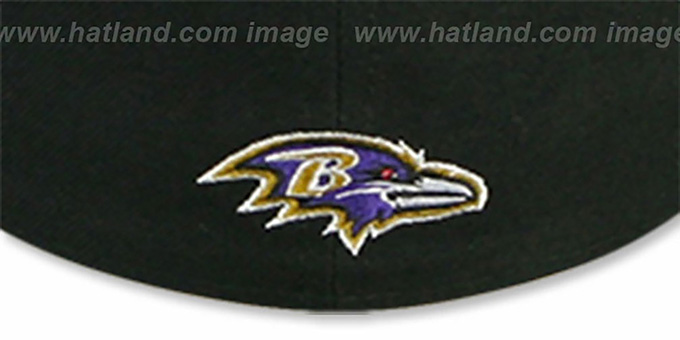 Ravens 'NFL 2T CHOP-BLOCK' Black-Purple Fitted Hat by New Era