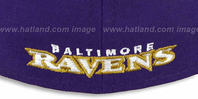 Ravens 'NFL 2T-TEAM-BASIC' Purple-Black Fitted Hat by New Era