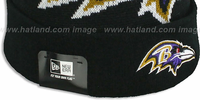Ravens 'NFL-BIGGIE' Black Knit Beanie Hat by New Era