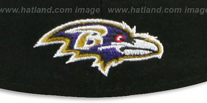Ravens 'NFL FELTN' Black Fitted Hat by New Era
