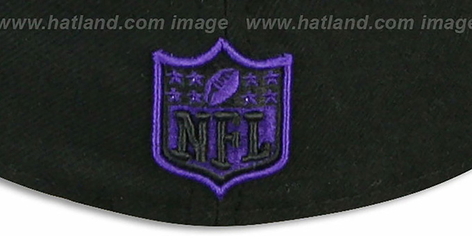 Ravens 'NFL JERSEY-BASIC' Black-Purple Fitted Hat by New Era