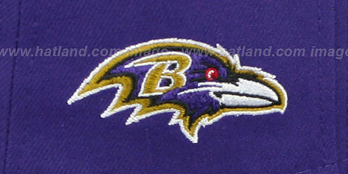 Ravens 'NFL ONFIELD DRAFT' Purple Fitted Hat by New Era