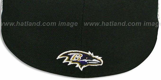 Ravens 'NFL RETRO PATCH' Black-White Fitted Hat by New Era