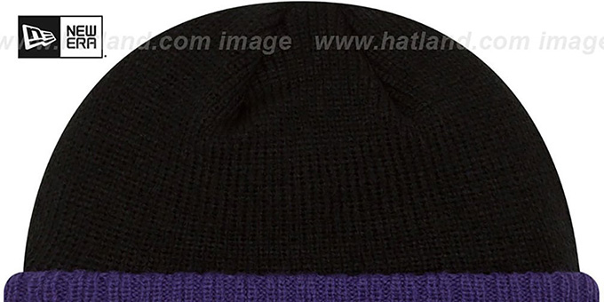 Ravens 'RIBBED-UP' Black Knit Beanie Hat by New Era