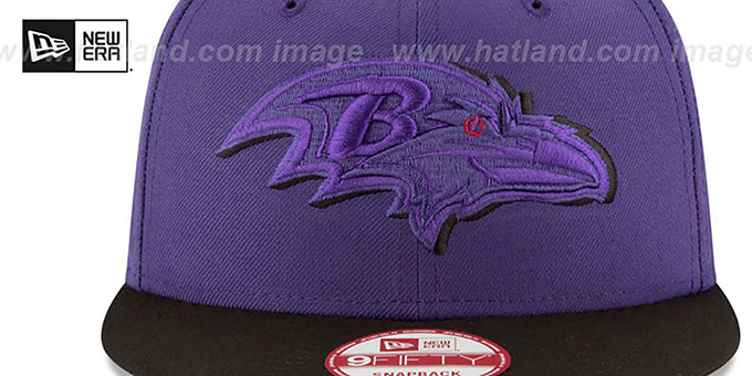 Ravens 'SHADOW SLICE SNAPBACK' Purple-Black Hat by New Era