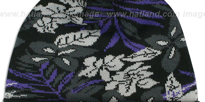 Ravens 'SNOW-TROPICS' Black Knit Beanie Hat by New Era