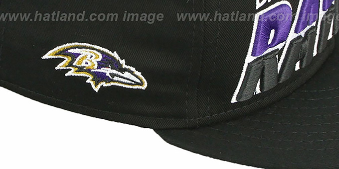 Ravens 'TEAM-HORIZON SNAPBACK' Black Hat by New Era