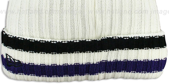 Ravens 'YESTER-YEAR' Knit Beanie Hat by New Era