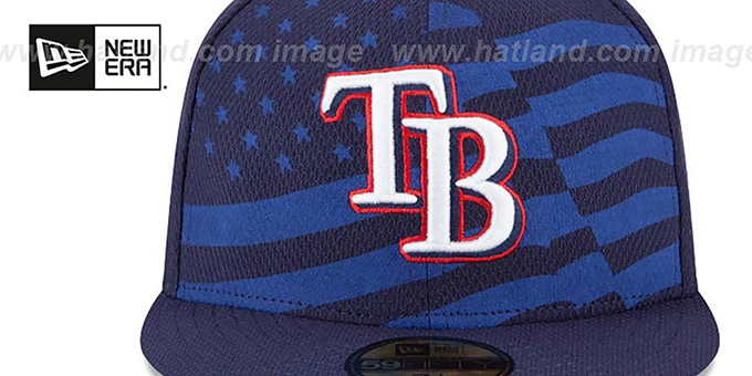 Rays '2015 JULY 4TH STARS N STRIPES' Hat by New Era