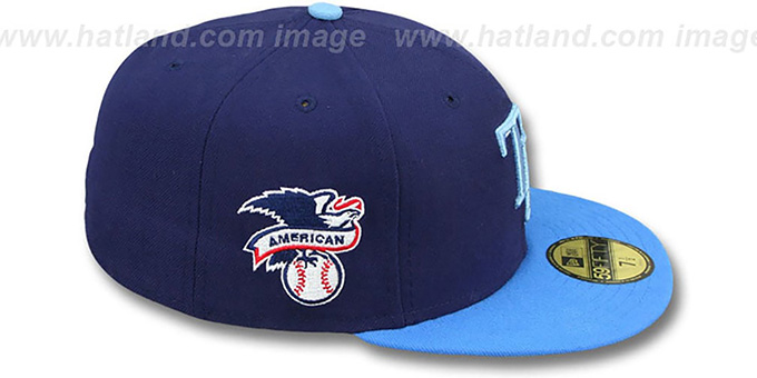 Rays 'BAYCIK' Navy-Sky Fitted Hat by New Era