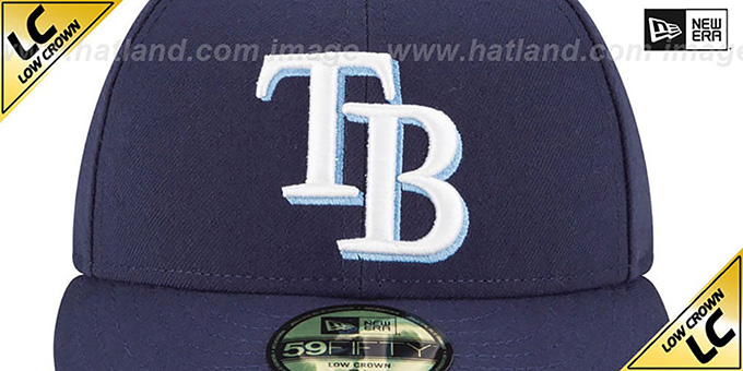 Rays 'LOW-CROWN' GAME Fitted Hat by New Era