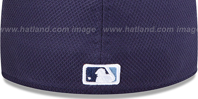 Rays 'MLB DIAMOND ERA' 59FIFTY Navy-Sky BP Hat by New Era