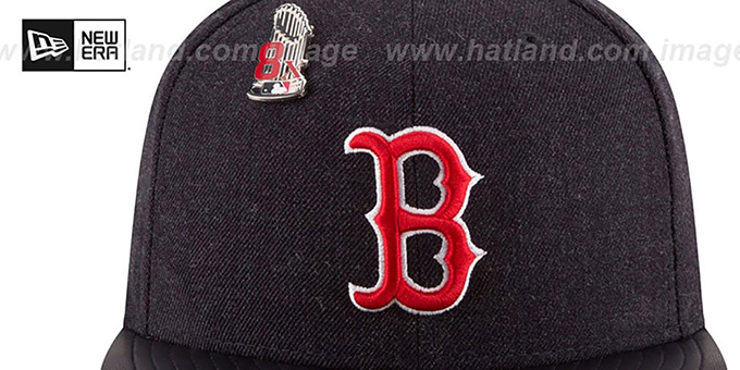 Red Sox 8X 'HEATHER-PIN' Navy Fitted Hat by New Era