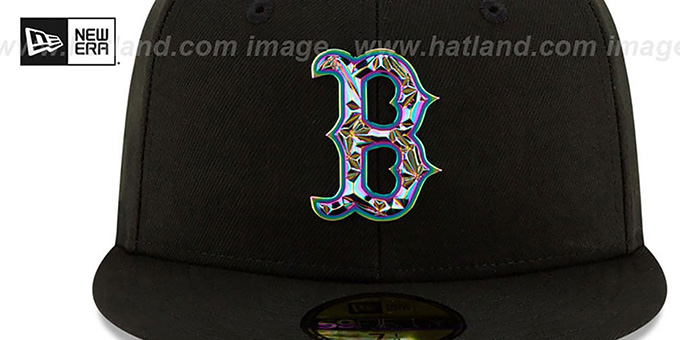 Red Sox 'IRIDESCENT COLOR-SHIFT' Black Fitted Hat by New Era