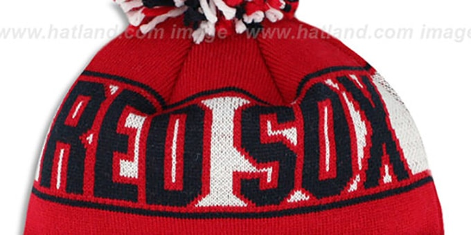 Red Sox 'REP-UR-TEAM' Knit Beanie Hat by New Era