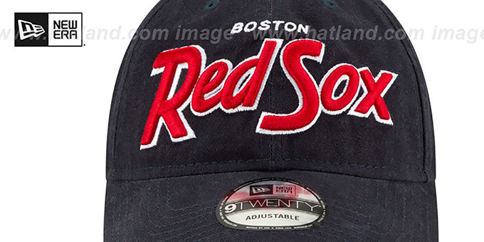 Red Sox 'RETRO-SCRIPT SNAPBACK' Navy Hat by New Era
