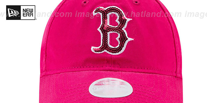 346465b26d6 ... Red Sox  WOMENS MOTHERS DAY GLIMMER STRAPBACK  Pink Hat by New Era ...