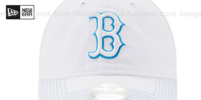 Red Sox 'WOMENS POP PREFERRED PICK STRAPBACK' White-Blue Hat by New Era