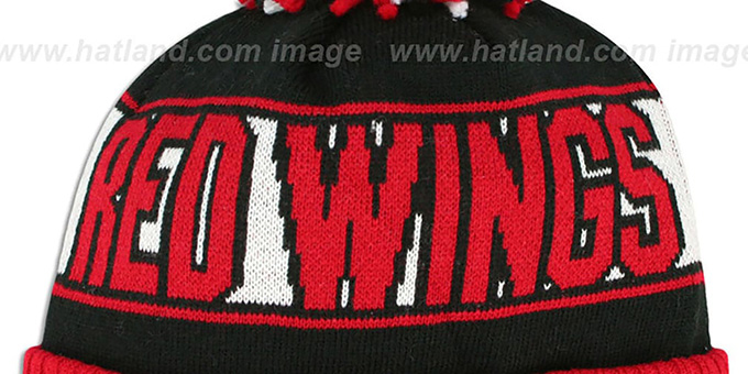 Red Wings 'REP-UR-TEAM' Knit Beanie Hat by New Era