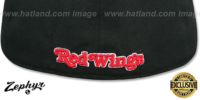 Red Wings 'SHOOTOUT' Black Fitted Hat by Zephyr