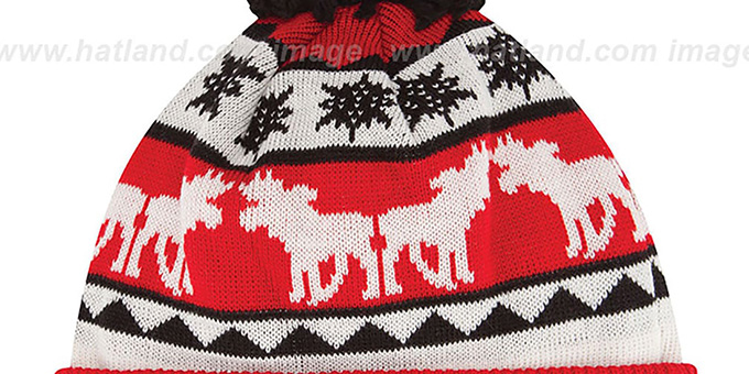 Red Wings 'THE-MOOSER' Knit Beanie Hat by New Era