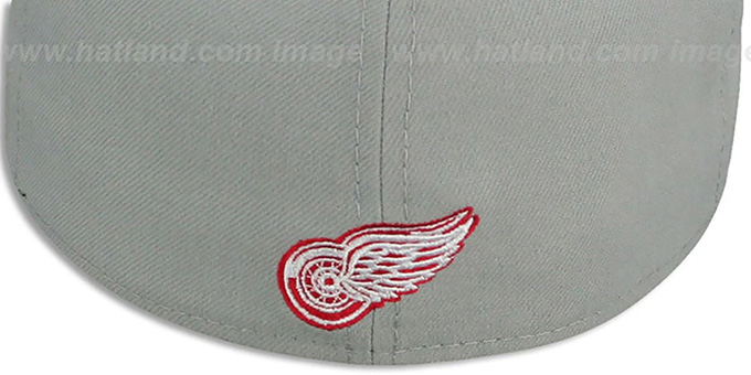Red Wings 'TRACE-POP' Grey-Red Fitted Hat by New Era