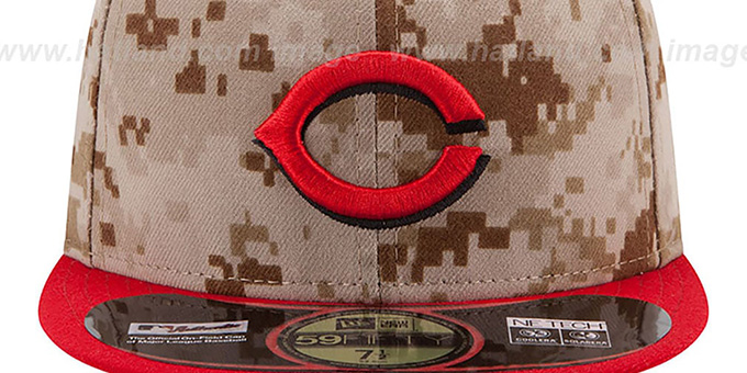 Reds '2014 STARS N STRIPES' Fitted Hat by New Era