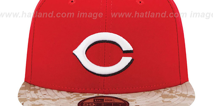 Reds '2015 STARS N STRIPES' Fitted Hat by New Era