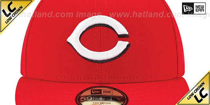 Reds 'LOW-CROWN' HOME Fitted Hat by New Era