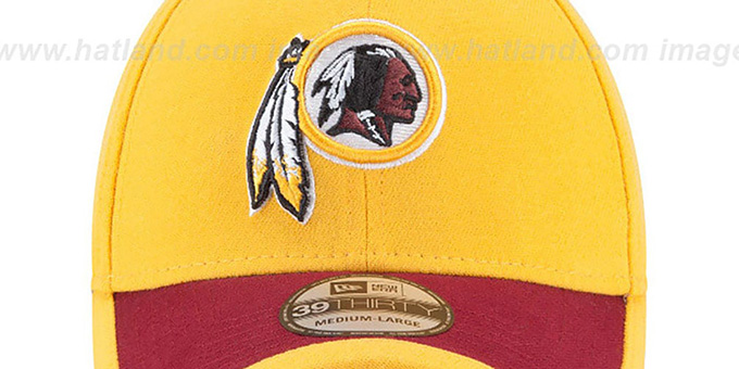 Redskins '2015 NFL STADIUM FLEX' Gold-Burgundy Hat by New Era