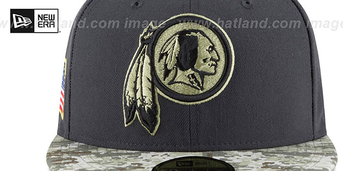Redskins '2016 SALUTE-TO-SERVICE' Grey-Desert Fitted Hat by New Era