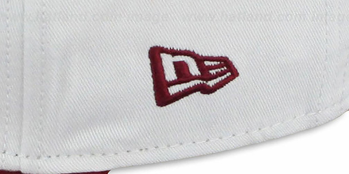Redskins 'BIGSIDE A-FRAME SNAPBACK' White-Burgundy Hat by New Era