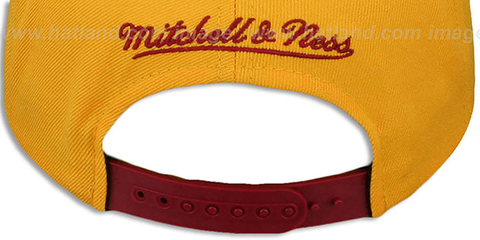Redskins 'BLOCK-ARCH SNAPBACK' Gold-Burgundy Hat by Mitchell & Ness