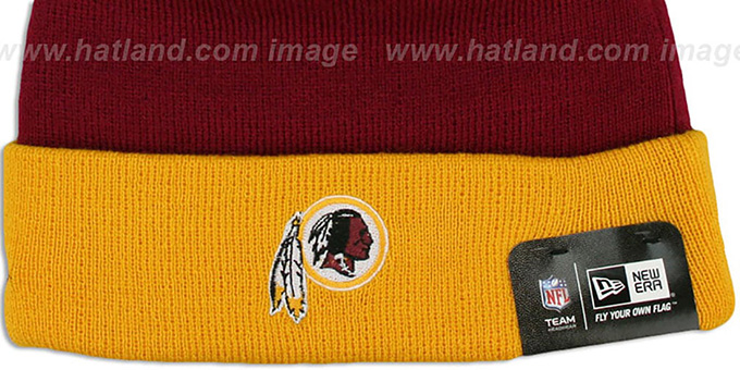 Redskins 'BUTTON-UP' Knit Beanie Hat by New Era