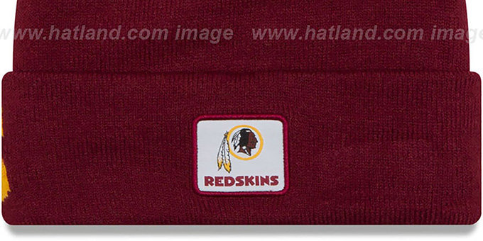 Redskins 'COLOSSAL-TEAM' Burgundy Knit Beanie Hat by New Era
