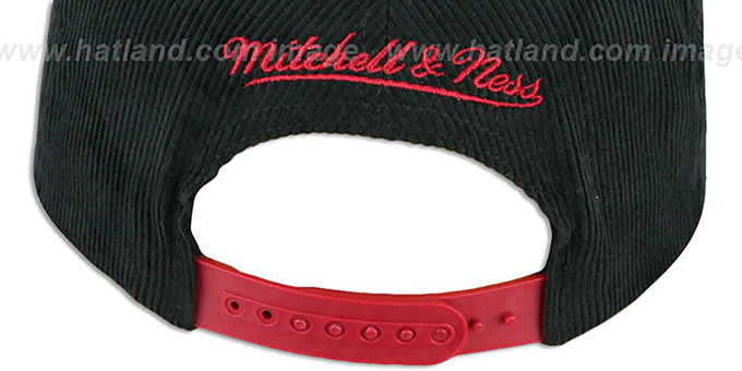 Redskins 'FELT-PATCH CORD SNAPBACK' Black Hat by Mitchell and Ness