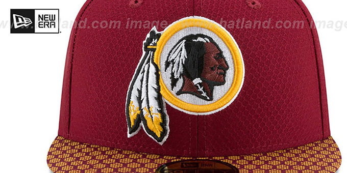 f924e2cf5 ... Redskins  HONEYCOMB STADIUM  Burgundy Fitted Hat by New Era ...