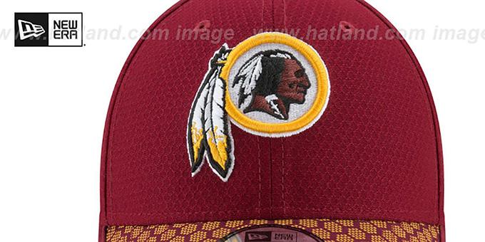 b57e2df96 ... Redskins  HONEYCOMB STADIUM FLEX  Burgundy Hat by New Era ...